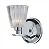 Calais 1 Light Vanity In Polished Chrome And Clear Crystal Glass