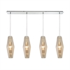 Pelham 4 Light Pendant In Polished Chrome