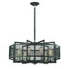ELK lighting Slatington 9 Light Chandelier In Silvered Graphite And Brushed Nickel