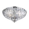 ELK lighting Crystal Flushmounts 2 Light Flushmount In Polished Chrome
