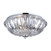ELK lighting Crystal Flushmounts 3 Light Flushmount In Polished Chrome