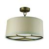 Baxter 3 Light Pendant In Brushed Antique Brass