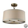 Baxter 3 Light Pendant In Brushed Antique Brass With Adapter Kit