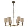 Baxter 6 Light Chandelier In Brushed Antique Brass