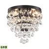 Ramira 3 Light LED Semi Flush In Oil Rubbed Bronze