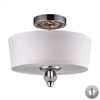 Martina 2 Light Semi Flush In Polished Chrome - Includes Recessed Lighting Kit