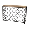 Agra Console Table Black,Natural Oak