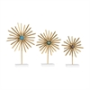 Sterling Cruzada Set of 3 Decorative Stands Gold
