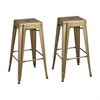 Sterling Acento Stool Antique Gold