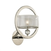 Corisande 1 Light Wall Sconce In Polished Nickel
