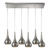 Lindsey 6 Light Pendant In Satin Nickel