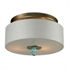 ELK lighting Lilliana 2 Light Semi Flush In Seafoam And Aged Silver