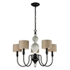 ELK lighting Lilliana 5 Light Chandelier In Cream And Aged Bronze