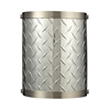 Diamond Plate 1 Light Sconce In Brushed Nickel