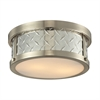 Diamond Plate 2 Light Flushmount In Brushed Nickel