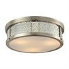 Diamond Plate 3 Light Flushmount In Brushed Nickel