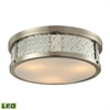 ELK lighting Diamond Plate 3 Light LED Flushmount In Brushed Nickel