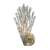 Viva Natura 1 Light Wall Sconce In Aged Silver
