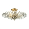ELK lighting Viva Natura 3 Light Semi Flush In Aged Silver