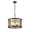 Chandler 4 Light Pendant In Oil Rubbed Bronze And Champagne Glass