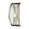 Chandler 1 Light Sconce In Polished Nickel And Clear Glass
