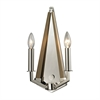 ELK lighting Madera 2 Light Sconce In Polished Nickel And Natural Wood