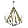 ELK lighting Madera 10 Light Chandelier In Polished Nickel And Natural Wood