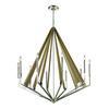 ELK lighting Madera 10 Light Chandelier In Polished Nickel And Natural Wood