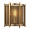 Rialto 1 Light Wall Sconce In Aged Brass