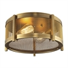 Rialto 2 Light Flushmount In Aged Brass