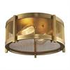 Rialto 2 Light Flushmount In Aged Brass