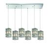ELK lighting Cynthia 6 Light Pendant In Polished Chrome And Clear K9 Crystal