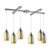 Horizon 6 Light Pendant In Satin Nickel