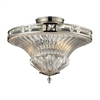 ELK lighting Aubree 2 Light Semi Flush In Polished Nickel