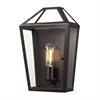 ELK lighting Alanna 1 Light Wall Sconce In Oil Rubbed Bronze And Clear Glass