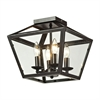 ELK lighting Alanna 2 Light Flush Mount In Oil Rubbed Bronze And Clear Glass