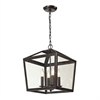 ELK lighting Alanna 4 Light Semi Flush In Oil Rubbed Bronze And Clear Glass