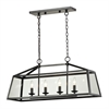 ELK lighting Alanna 4 Light Pendant In Oil Rubbed Bronze And Clear Glass