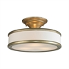 ELK lighting Clarkton 3 Light Semi Flush In Aged Silver
