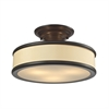 Clarkton 3 Light Semi Flush In Oil Rubbed Bronze