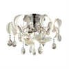 ELK lighting Zebula 8 Light Semi Flush In White