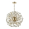 ELK lighting Zebula 12 Light Chandelier In Polished Gold