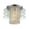 Zoey 3 Light Semi Flush In Polished Chrome