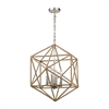 ELK lighting Exitor 4 Light Chandelier In Polished Nickel