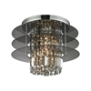 ELK lighting Zoey 3 Light Semi Flush In Polished Chrome