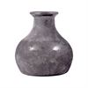 Lisboa Vase 8.25In, Textured Gray