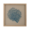 Turquoise Sea Fan On Natural Linen