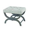 Sterling Arnaz Bench Aged Black,Grey Linen