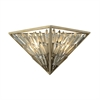 Viva Natura 2 Light Wall Sconce In Aged Silver