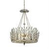 Viva Natura 6 Light Chandelier In Aged Silver